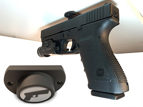 Gun Magnet w/ Adhesive Backing | Car Holster | Bedside Holster | Steering Wheel Gun Holster | Under The Desk Pistol Holster | Gun Holsters For Cars | Vehicle Gun Mount | Pistol Holster In Car (Steering Wheel Holster Mount compare prices)