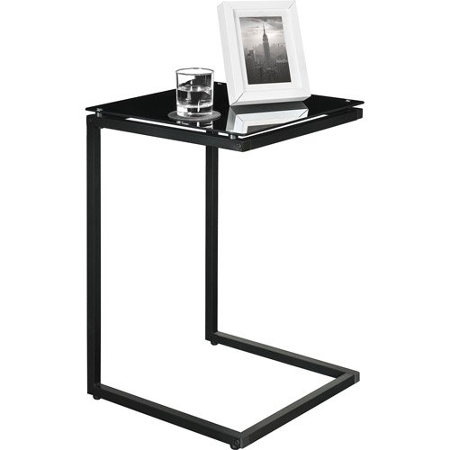 Sturdy Snack Table with Glass Top, Black. Tv Tray Tables Are Versatile, Use As A Laptop Table, Snack Table or TV Tray Table. This Modern Table Will Suit Most Home Decors. Tray Table Holds Your Coffee, Dinner Or Laptop. Enjoy Accent Tables (Glass Dinner Tray compare prices)