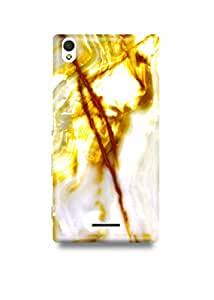 Gold & White Marble Sony T3 Case