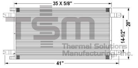 TSMUSA HD Truck Condenser for Kenworth T2000 (2008-2011), Kenworth T700 (2011-2013), Kenworth T800 (2008-2015), Kenworth T880 (2014-2015), Kenworth W900 (2008-2015), Peterbilt 335 (2008-2010), Peterbi