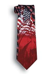 Patriotic Silk Tie - Liberty & Justice