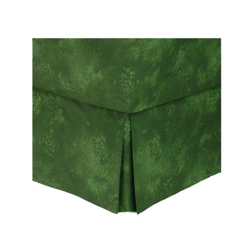 Rain Forest Green - Bedskirt - Twin front-1060159