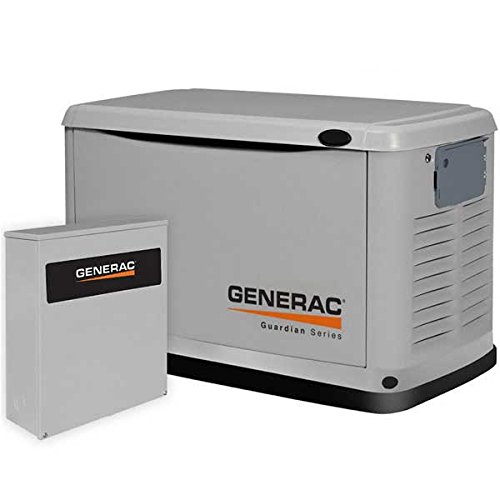 Generac 6462 Guardian Home Standby Generator, Steel Enclosure, Packaged With 200-Amp Service Entrance Rated Automatic Smart Transfer Switch