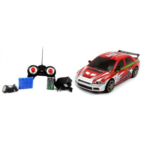 Electric Full Function 1:24 Mitsubishi Lancer Evo (Evolution) VIII MR RTR RC Drift Car Remote Control W/ Rechargeable Batteries and 4 Spare Tires