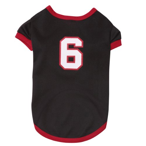 Casual Canine Polyester Game Day Dog Jersey, Small/Medium, 14-Inch, Beach Black front-605319
