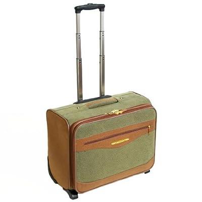 Sanpoints Wheeled Laptop Case - Fits up to 17'' Laptops (Olive/Tan) by Sanpoints