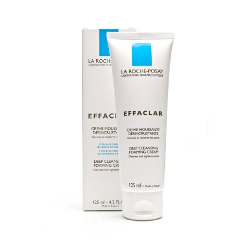 La Roche-Posay Effaclar Deep Cleansing Foaming Cream 4.2 Fluid Ounce Tube