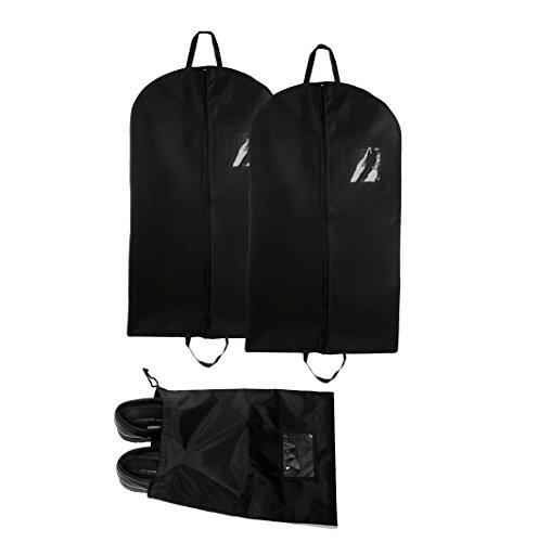 Bags for LessTM Bundle Set of 2 Non-Woven/Breatheable Garment Bags 60