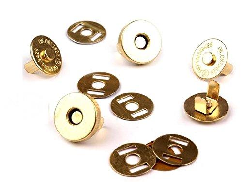 Magnetknöpfe-Magnetverschluss 10 Stück, Ø18mm. Farbe: gold