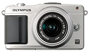Olympus E-PM2 Interchangeable Lens Digital Camera with 14-42mm Lens (Silver)
