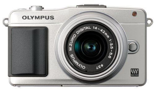 Olympus E-PM2 Mirrorless Camera Kit with 14-42mm f/3.5-5.6 Lens (Silver)