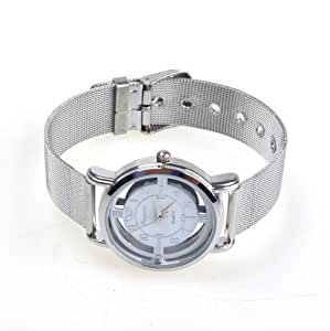 SODIAL(R) NEW Water Resistant Steel Rotary Dial Quartz Wrist Watch for Women