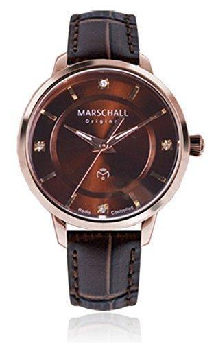 Marschall Original Damen-Funkarmbanduhr analog Quarz Clasica Rosa Morena