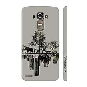 Enthopia Designer Hardshell Case Forest Vs City Back Cover for LG G4