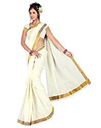 E-Vastram Cotton Saree (Kcp _White)