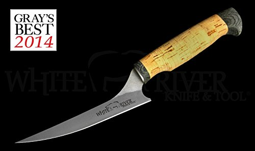 "White River Knife & Tool 6"" Step-up Fillet Knife Ultra Light Cork Handle WRSUF6-CORK"