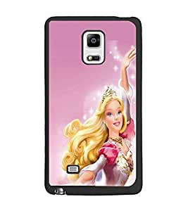 PrintDhaba Barbie Doll D-1015 Back Case Cover for SAMSUNG GALAXY NOTE 4 (Multi-Coloured)