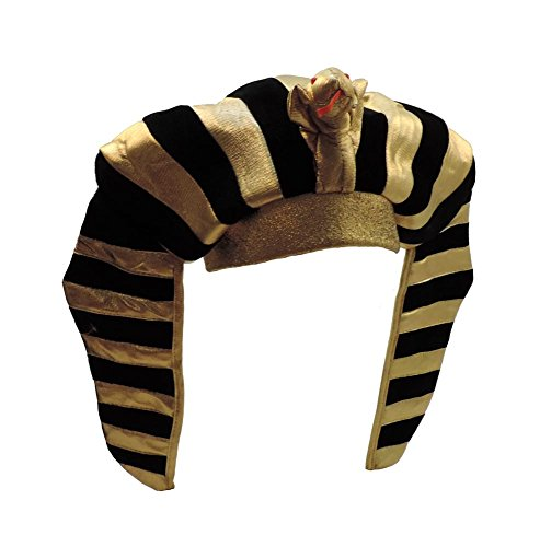 Gold Lamé Egyptian Pharaoh King Tut Costume Headdress
