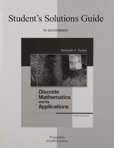 Student's Solutions Guide to Accompany Discrete...
