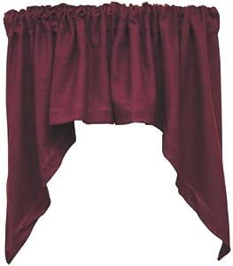 Amazon.com: Merlot Burlap Window Swag Curtain Dark Burgundy Country