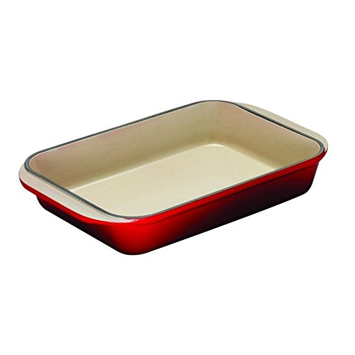 Le Creuset Enameled Cast-Iron 15-3/4-By-10-3/4-Inch Rectangular Roaster, Cherry front-562822