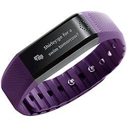 Toprime-Pulsera inteligente podómetro Alertas de información y telefónicas, color morado