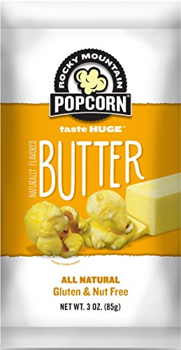 Rocky Mountain Popcorn, Butter, 3.0 Ounce (Pack of 12)