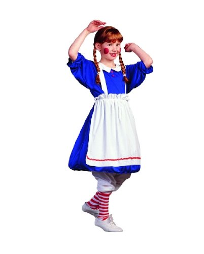 RG Costumes 91229-M Deluxe Rag Doll Costume - Size Child-Medium