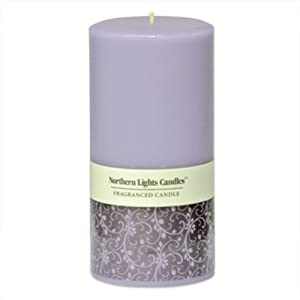 Northern Lights Candles - 3x6 Pillar-Lavender Vanilla