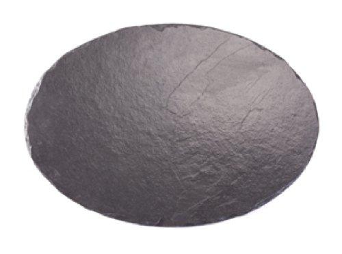 Platos individuales Slate manteles individuales Oval 35 x 24 cm/plato/tabla de cortar queso, negro