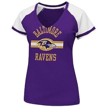 NFL Baltimore Ravens V-Neck Tee, Small