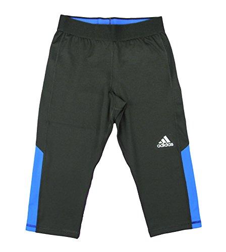 Adidas Youth Big Girls Techfit Capri Yoga Pants (Small (7/8), Black/Solar Blue)