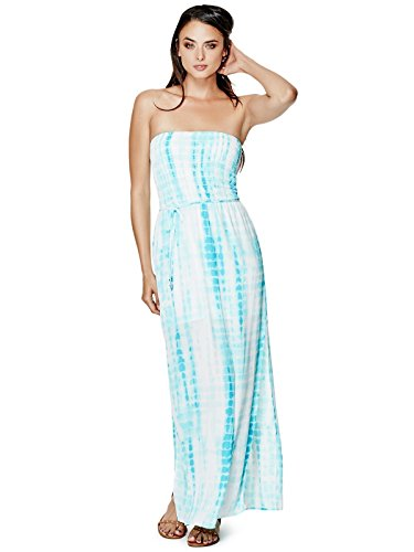 GUESS Womens Marabella Smocked Maxi Dress