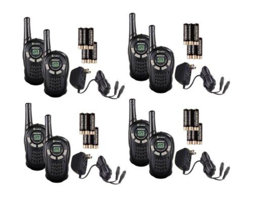 4 Pair Cobra Cxt125 16 Mile Walkie Talkies 2-Way Radios