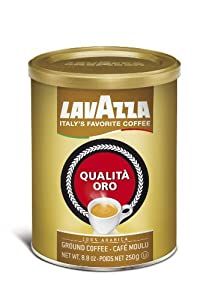 Lavazza Qualita Oro Ground Coffee, 8.8-Ounce Cans from Lavazza