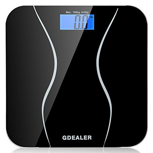 Digital Bathroom Scale, GDEALER 400lb/180kg Body Weight Bathroom Scale, Elegant
