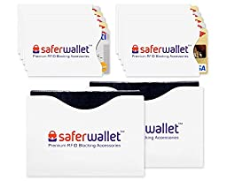 RFID Sleeve Set (10 Credit Card Protector + 2 Passport Sleeves) - Wallet Inserts Provide Safe RFID Blocking Security Protection for ID, Credit Cards & Passports