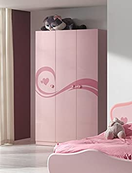 Smartbed - Armoire 3 Portes Rose Lizzy Smart Bed