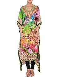 Kalki Fashion Digital Printed Kaftans Enhanced In Gathers Only On Kalki Size- Large