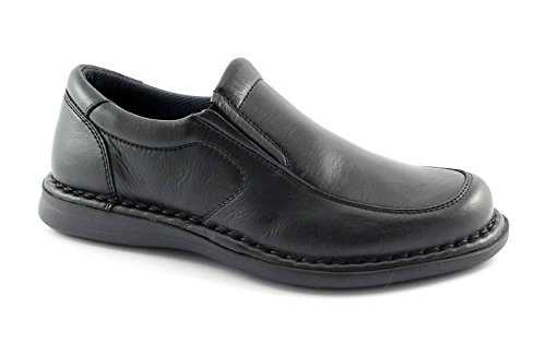FRAU 38P5 nero scarpe uomo mocassino comfort