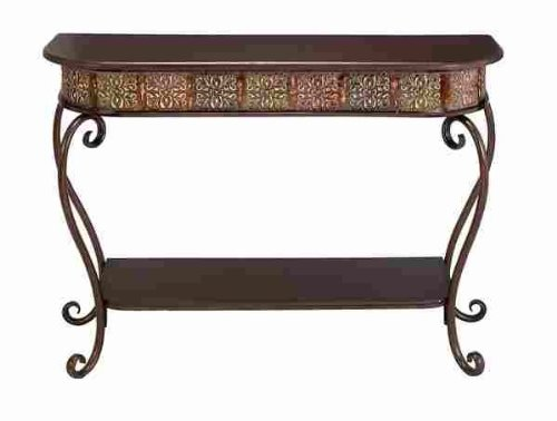 Cheap Benzara 74362 Metal Wood Console Table Affordable Furniture (B0085LMVKI)