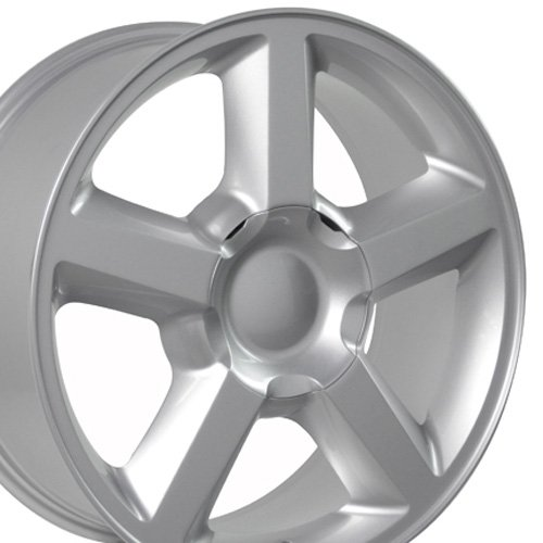 20x8.5 Wheel Fits Chevy Truck - Tahoe Style - Silver Rim (Chevy Silverado Rims 20 compare prices)