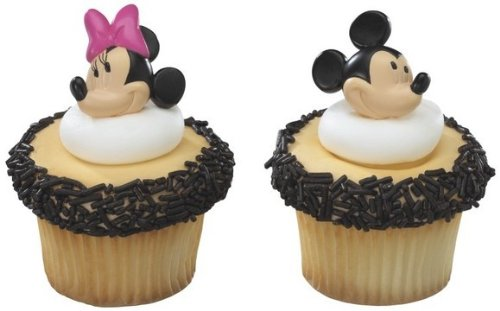 BULK 72 (6 Dozen) MICKEY MINNIE Mouse Cupcake Party Favor TOPPER Decors RINGS