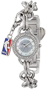 Game Time Ladies NBA-CHM-DET Charm NBA Series Detroit Pistons 3-Hand Analog Watch by Game Time