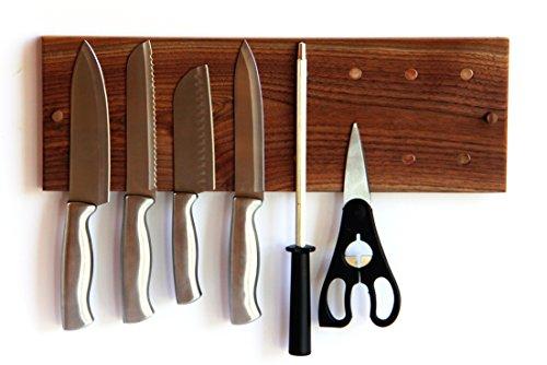 Walnut Wooden Magnetic Knife Rack Holder or Magnetic Knife Strip