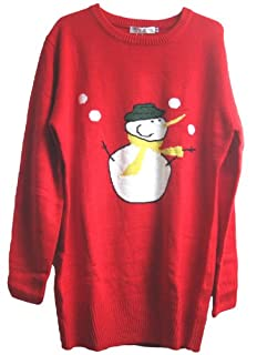 CHRISTMAS Sweater / Cardigan, with Various Lovely Patterns of Reindeer / Snowman / Snowflakes / Tree (XL/XXL  (Tag: XL), Snowman)