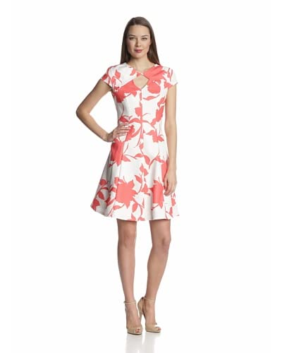 Julian Taylor Women's Cap Sleeve Fit & Flare Print Dress