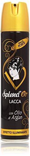 Splend'Or - Lacca con Olio di Argan, Tenuta Forte, Effetto Illuminante - 300 ml