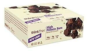 thinkThin High Protein, Brownie Crunch, 2.1 Ounce (Pack of 10)