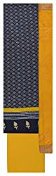 Punjaban Boutique Women's Cotton Unstitched Dress Material (Blue and Yellow)